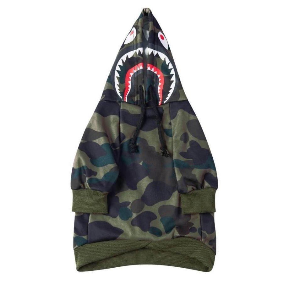 Felpa Green Camo Shark Monster