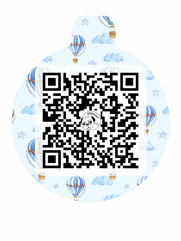 Medaglietta in alluminio Blue Dream QR CODE
